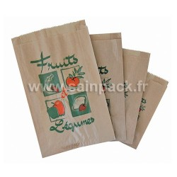 Sac papier kraft fruits et légumes