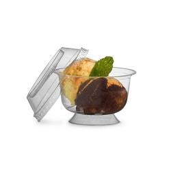 Coupe dessert avec couvercle