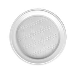 Assiette plastique jetable blanche