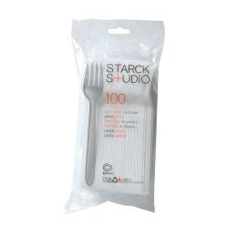 Fourchette en plastique jetable Starck
