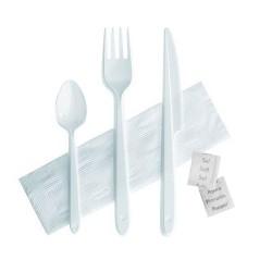 Kit couverts plastique jetables Starck 6 en 1