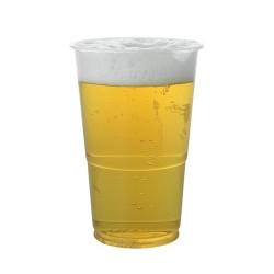 Gobelet plastique transparent bière 1/2 pinte
