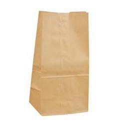 Sac papier kraft brun neutre sans poignées sos