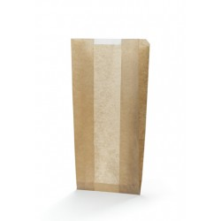 Sac sandwich kraft brun neutre à fenêtre