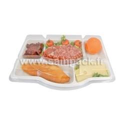 Plateau repas 5 compartiments